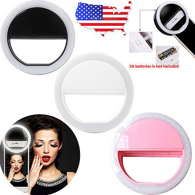 Selfie Portable LED Ring Light Camera Photography for iPhone 7 6 6S Plus Samsung
