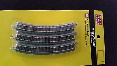 Z Scale - MTL MICRO-TRAINS  990 40 903 Curved Track Pack R195mm x 30*- 12 Pieces