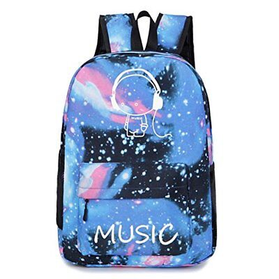 GAOAG Anime Luminous Backpack Fashion Canvas Travel Shoulder Bag Laptop