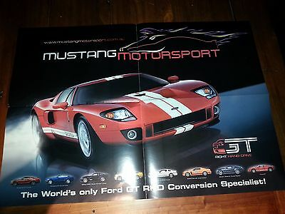 Mustang Motorsport Right Hand Drive Ford GT Poster