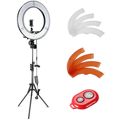 "Neewer 14"" LED Ring Light Dimmable 36W 5500K with Light Stand Color Filter Kit"