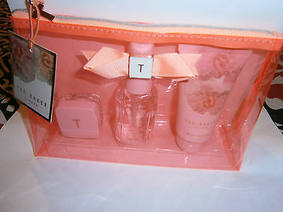 Ted Baker Mini Beauty Bag Gift Set/Lotion/Spray/Holidays/Birthday/Ideal Gift.