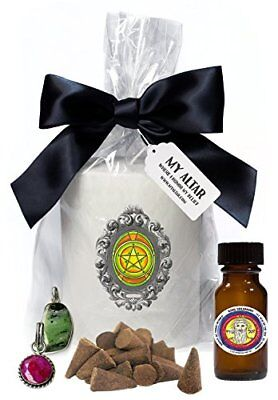 Solomons Mercury 1 Personal Magnetism Candle, Oil, Gem Pendant, Incense Set