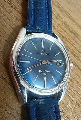 Vintage Eterna Kontiki with brevete movement- a truly collectable timepiece