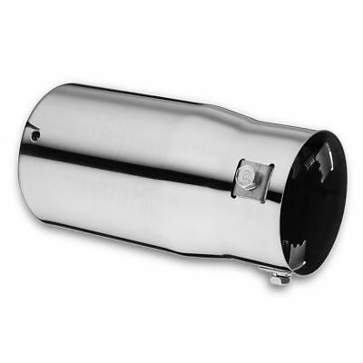 75mm Chrome Stainless Steel Car Tail Exhaust Pipe Tip End Trim Racing Muffler