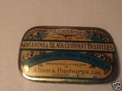 Antique Collectable Allenburys G&B.C. Pastilles  Rare AntiqueTin Box