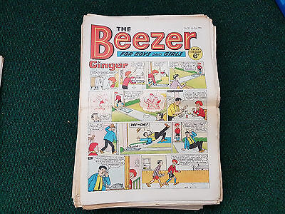 BEEZER COMIC - 52 issues from 1971 FULL YEAR!!