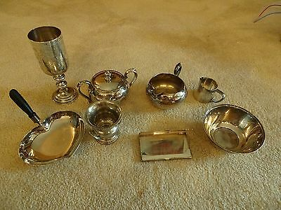 8 pieces Vintage Silver plate lot assorted types