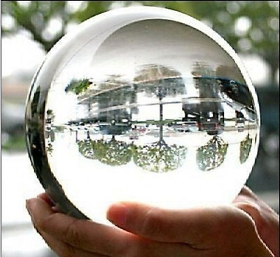 Beautiful New ASIAN QUARTZ Clear Crystal Ball Sphere 110mm +stand+Gift