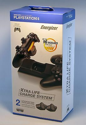PlayStation 4 Xtra Life Charge System PDP Energizer Batteries PS4 - New AU Stock