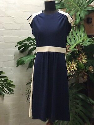 Vintage  1970s Navy And White Nautical, Ss M