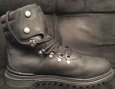 Men's Timberland Black Leather Lace Up Insulated Waterproof Boots Size 10