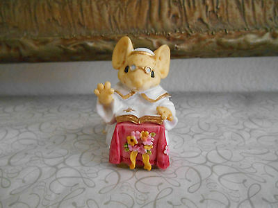Ganz Little Cheesers Vintage Mice Figurine  Church Mouse - Misister  1991
