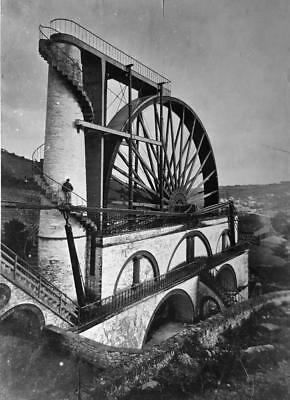 Old Photo.  Isle of Man.  The Laxey Wheel