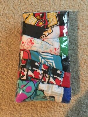 6 Pair Boys Briefs - Size 4 - Cars, Monsters Inc., Angry Birds - New