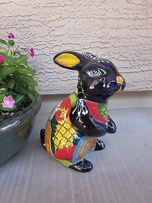 Mexican Talavera Pottery Bunny / RABBIT 11''