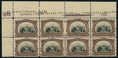 #298 Top Plate Block Of 8 -- Xf Og Nh -- With Cert Cv $4,180++ Wlm4054