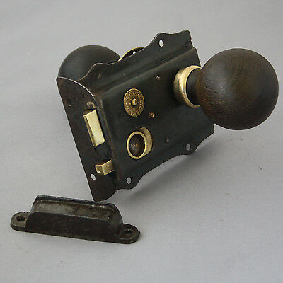 Antique Victorian Rim Latch & Knobs