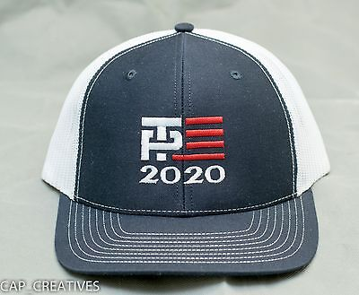 TRUMP PENCE Hat -MAKE AMERICA GREAT AGAIN- Republican 2020- TP FLAG Navy White