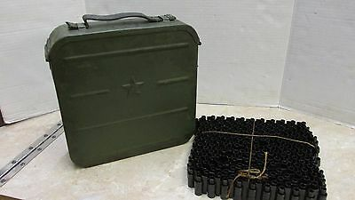 Ww2 Russian M1910 Ammunition Ammo Can Finnish Marked With Unused Belt