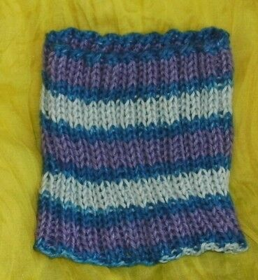 Toddler Imported CB Yarn Cowl, Purple, Blue and Light Blue, Soft, 2-5 years