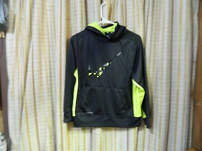 Boy's Nike Therma Fit Hoodie  Size L   Black and Yellow