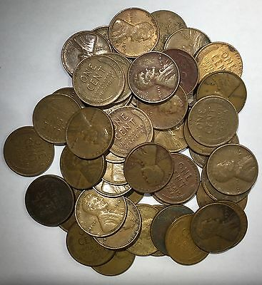 1 Roll (50 Coins) Circulated 1940-P Lincoln Wheat Cents