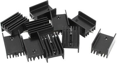 Uxcell 10 Pcs 21x15x11mm Black Aluminum Heat Sink For TO-220 Mosfet Transistors