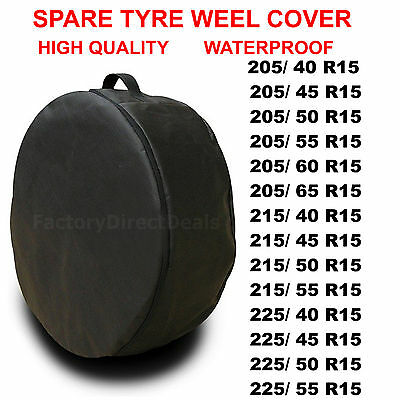 "R15"" -1x SPARE TYRE COVER WHEEL PROTECTIVE TYRE BAG SPACE SAVER FOR ANY CAR T53"