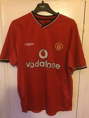 2001 Manchester United home football shirt Umbro youths Vodafone