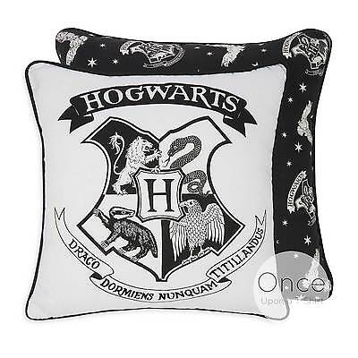 Primark Official HARRY POTTER Two Sided HOGWARTS Black and White Cushion Pillow
