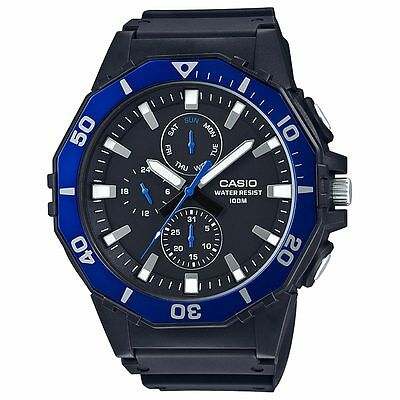 Casio MRW400H-2AV Men's Black Resin Band Multifunction Analog 100M Sports Watch