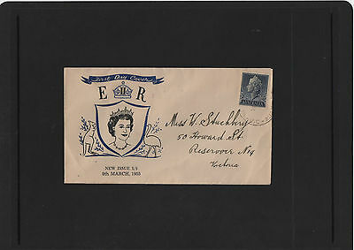 1955 QEII New Issue 1/- 1/2d pre decimal First Day Cover VIC cancel