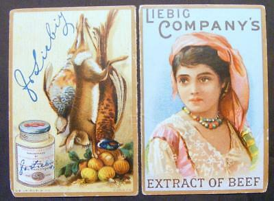 (2) 1889 Liebig Company's Extract Of Beef Trade Cards That Make A 1889 Calendar