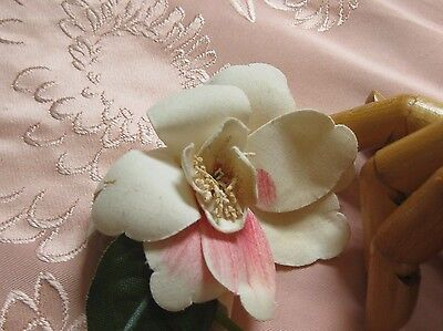 Antique Handmade Camellia Blossom Millinery Flower Corsage/pink Ombre Petals