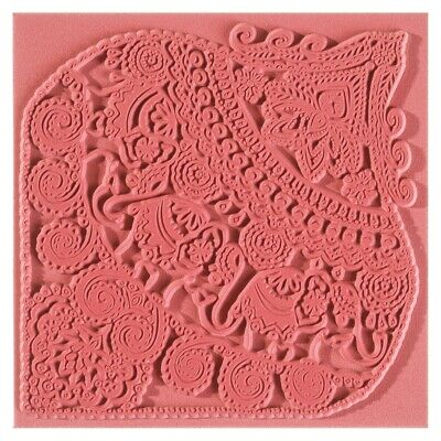 Efco Texturmatte 90 x 90 mm - Indian elephants / Elephant