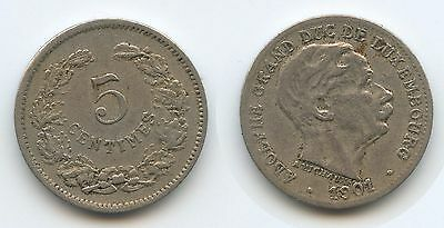 G7732 - Luxemburg 5 Centimes 1901 KM#24 Adolphe 1890-1905 Luxembourg