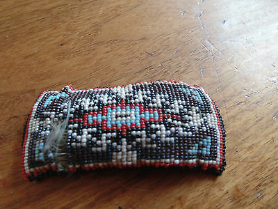 Vintage Native American Beaded Hair Barrette Some Damage Bead Loss