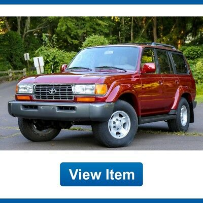 1997 Toyota Land Cruiser Base Sport Utility 4-Door 1997 Toyota Land Cruiser 1 Owner Serviced 4WD FJ80 3rd Row Seat CARFAX!