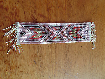Vintage Native American Beaded Bookmark Or Start Of Something Larger Well Done