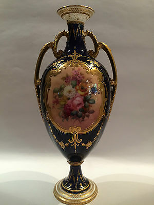 Royal Crown Derby Hand Painted Vase Signed Woods