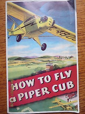 Vintage 1946 How to Fly a Piper Cub Booklet