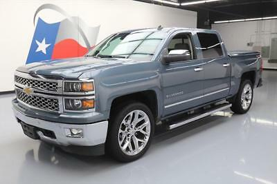 2014 Chevrolet Silverado 1500 LTZ Crew Cab Pickup 4-Door 2014 CHEVY SILVERADO LTZ CREW 4X4 LEATHER NAV 22'S 92K #266415 Texas Direct Auto