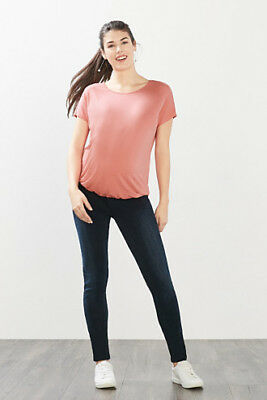 NEW Esprit Stretch top w an elasticated hem BERRY MOUSE
