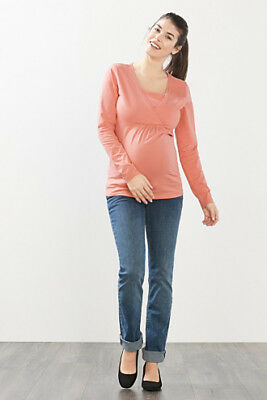 NEW Esprit Stretch jersey long sleeve nursing top BERRY MOUSE