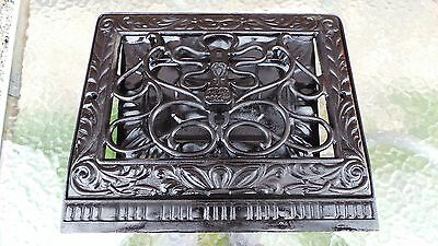 VICTORIAN Cast Iron Heat Wall Vent Floor Grille Grate Register
