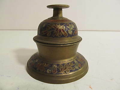 Vintage India Brass 10 claw Temple Bell with Base
