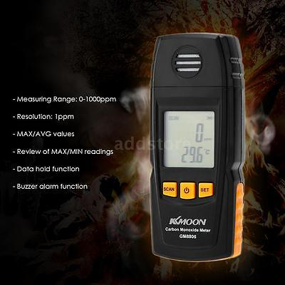 Handheld Carbon Monoxide Meter with CO Gas Tester Monitor Detector Gauge O9P8