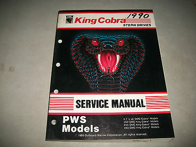 1990 Omc Cobra Stern Drives Pws Models  Service Shop Manual 4-6-8 Cylinder