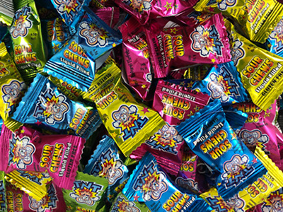 TNT Sour Chews 1kg Wrapped Lollies